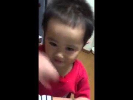 小さな子供と親の口喧嘩が面白い動画